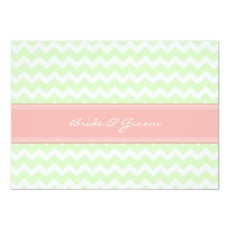 Wedding Invitations Mint Coral Chevron