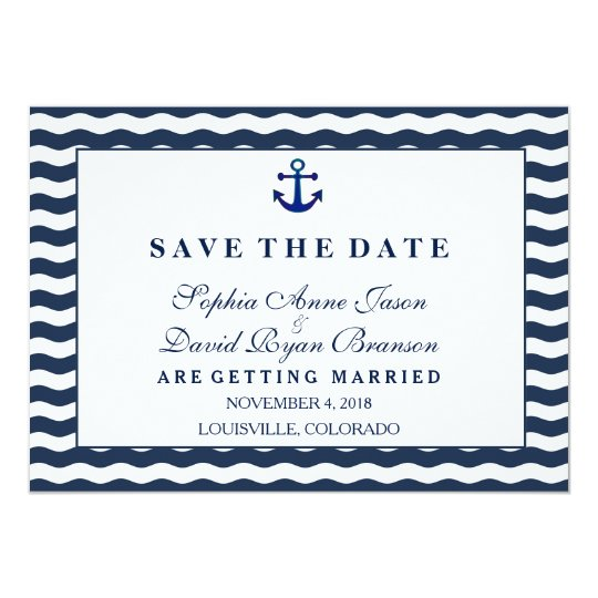 Wedding Invitations | Nautical Navy SAVE THE DATE