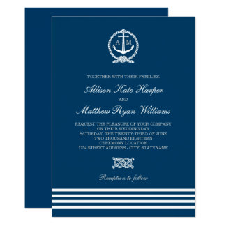 Wedding Invitations | Nautical Stripes Theme