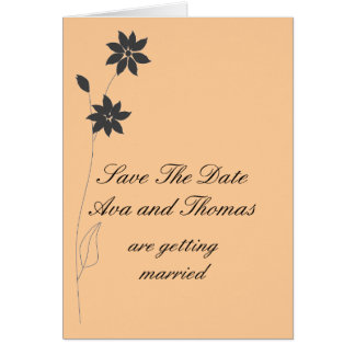 Wedding Invitations personalize.Save the Date Note Card