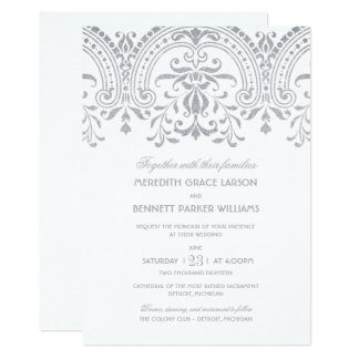 Wedding Invitations | Silver Vintage Glamour