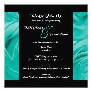 Wedding Invitations turquoise - customizable