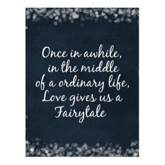 Wedding Invitations with Love Quote Postcard