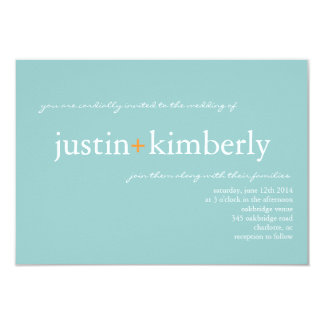 Wedding Invite | A+ |sm bl (7 color options)