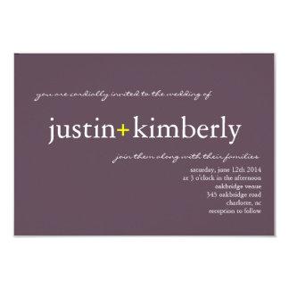 Wedding Invite | A+ |sm purple (7 Designer Colors)