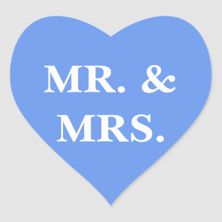 Wedding Invite Cornflower Blue Heart Sticker
