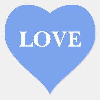 Wedding Invite Cornflower Blue Heart Sticker