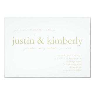"Wedding Invite | & I |whgr 3.5"" X 5"" Invitation Card"