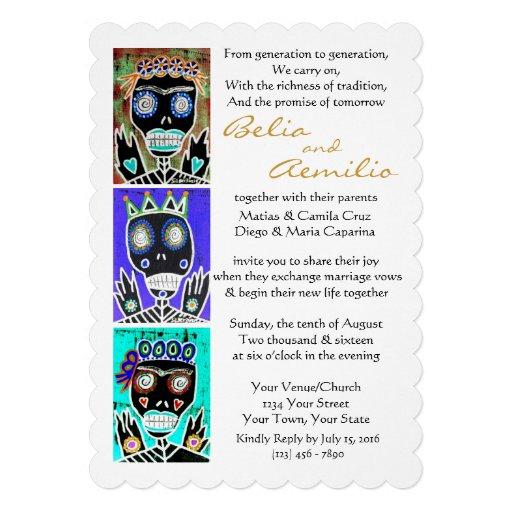Wedding Invite King & Queens Sugar Skull Angels