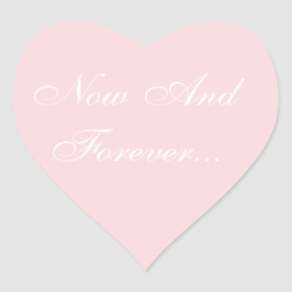 Wedding Invite Pale Pink Heart Sticker