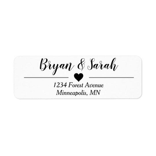 Wedding Invite Return Address Labels