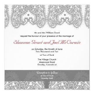 Wedding Invite Silver and Platinum