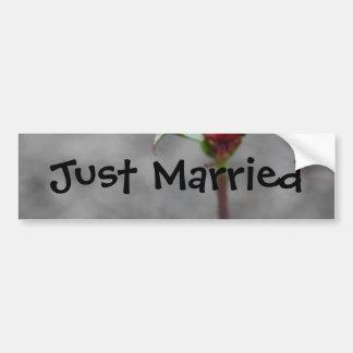 Wedding Just Married  Rosebud Bumper Sticke Bumper Sticker