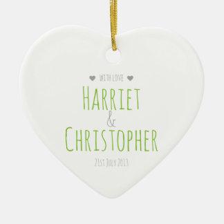 Wedding Keepsake Charm Ornaments