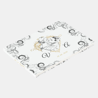 Wedding Kissing Couple Guest Book