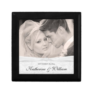Wedding Knot Damask Photo Keepsake Gift Box
