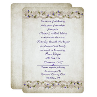 Wedding lace and ivy border card