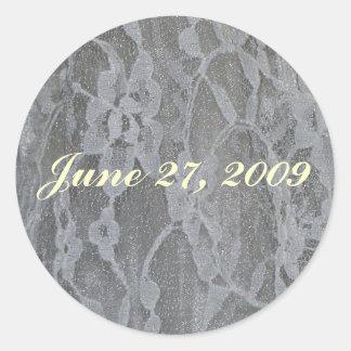 Wedding Lace Round Sticker