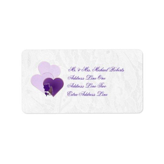 Wedding Lavender Purple Lace Return Address Label