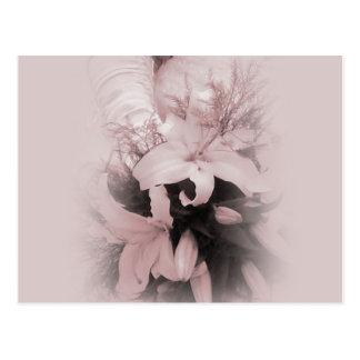 Wedding Lilies Blank Wedding Card Postcard