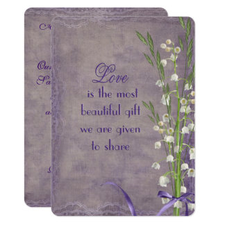Wedding Lily of the Valley bouquet Card
