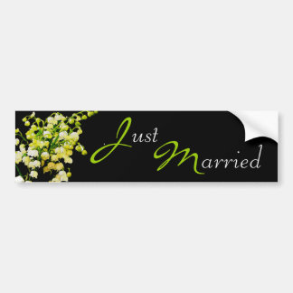 Wedding Lily of the Valley Bumper Sticker