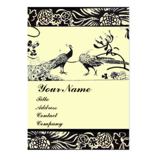 WEDDING LOVE BIRDS ,black and white ,cream Pack Of Chubby Business Cards
