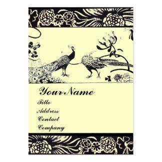 WEDDING LOVE BIRDS ,black and white ,cream Business Cards