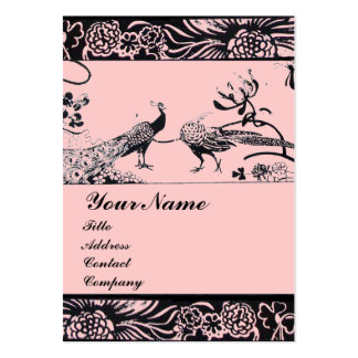 WEDDING LOVE BIRDS ,black and white pink Business Card Templates
