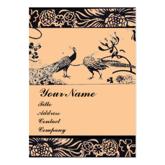 WEDDING LOVE BIRDS ,black and white ,pink Business Card