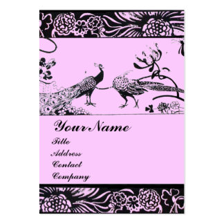 WEDDING LOVE BIRDS ,black and white pink Pack Of Chubby Business Cards