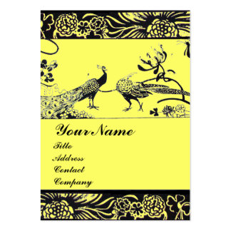 WEDDING LOVE BIRDS ,black and white ,yellow Business Card Templates