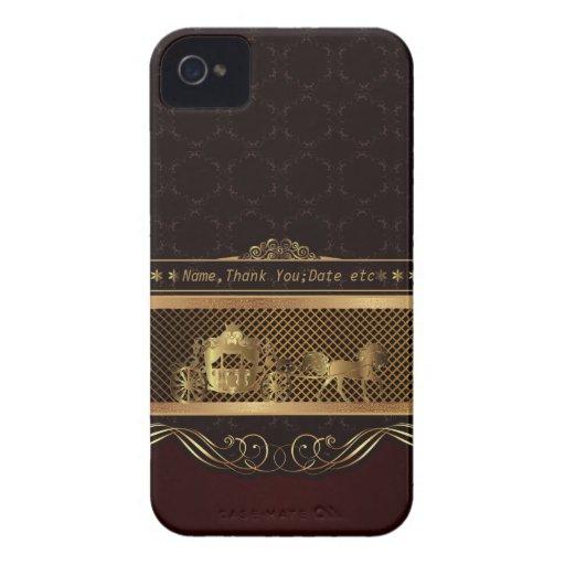 Wedding Luxury Golden Blackberry Bold Case