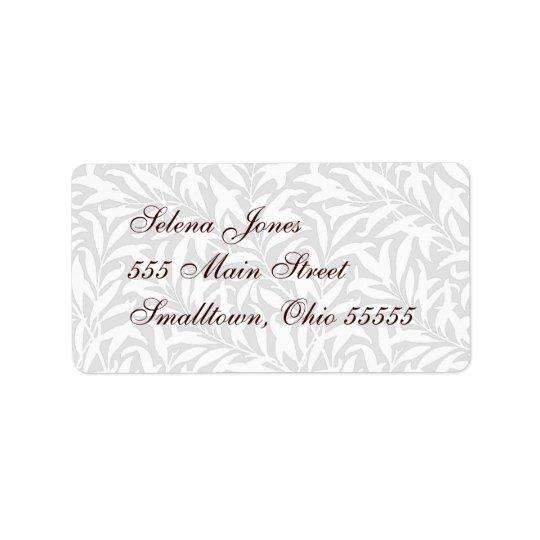 Wedding Mailing Label White Lacy Customisable