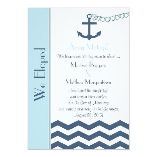 Wedding Marriage Elopement Announcement Invitation