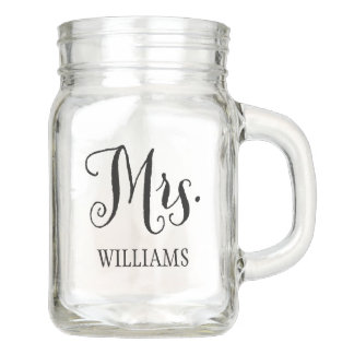 Wedding Mason Jar | Mrs. Bride