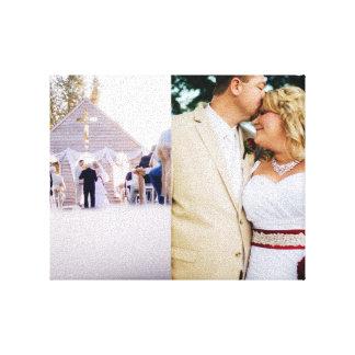 Wedding Memories Bride Groom Wrapped Canvas