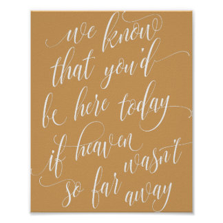 Wedding Memory Sign - Luxe Calligraphy - Heaven Poster