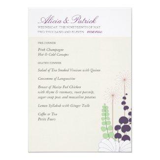 """Wedding Menu - Daisy 5"""" X 7"""" Invitation Card"""