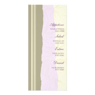 Wedding Menu Purple and Beige Rack Card Template