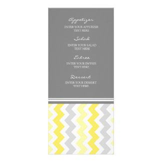 Wedding Menu Yellow Gray Chevron