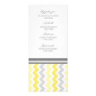 Wedding Menu Yellow Gray Chevron