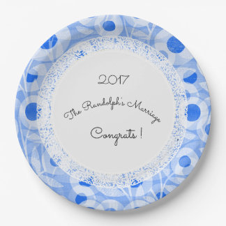 Wedding+Mod+Lace-Floral_Template-Name 9 Inch Paper Plate