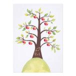 Wedding Monogram Apple Tree Orchard Country Invite