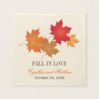 Wedding Monogram Napkins | Fall in Love Paper Napkin