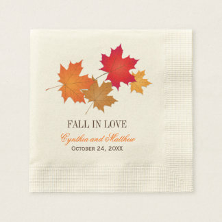 Wedding Monogram Napkins | Fall in Love Paper Napkin