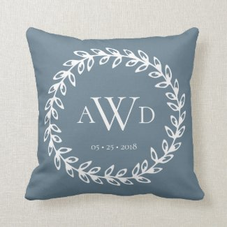Wedding Monogram? Personalised Throw Pillow