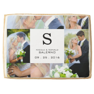 Wedding Monogram Photo Collage Template Names Date