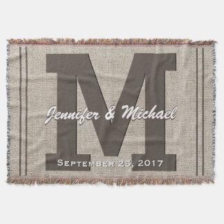 Wedding Monogram | Rustic Linen Look