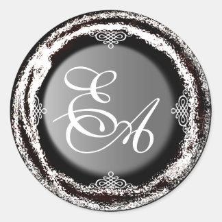 Wedding Monogram Silver Sticker Foil